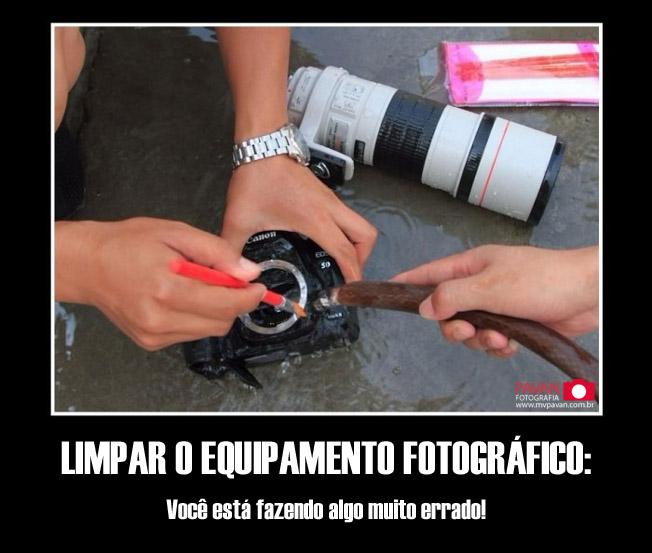 Como limpar o equipamento fotográfico feito um idiota