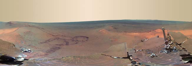 Nasa foto panorâmica Marte