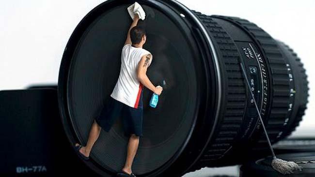 Limpar lente camera - Clean lens camera