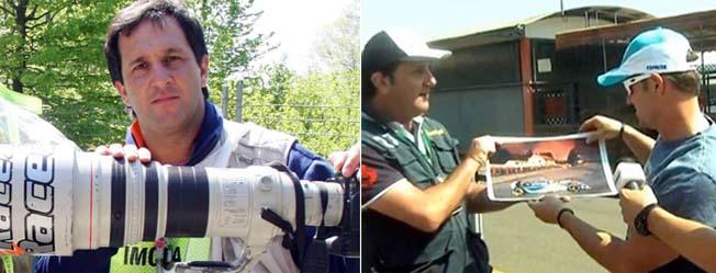 Barrichello ajuda fotografo vender acervo fotos Luca Bassani