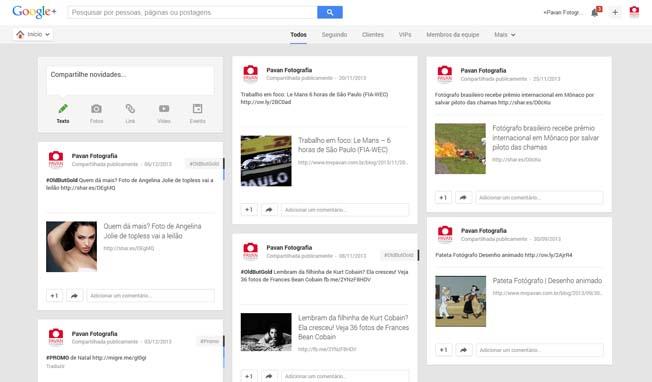 Novos recursos Fotografia Google+