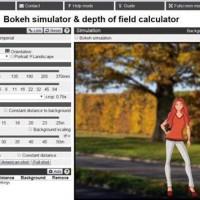 Simulador de Profundidade de Campo e Efeito Bokeh