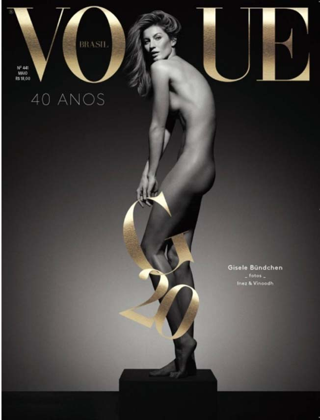 Gisele Bündchen Revista Vogue Nua