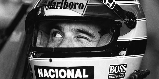 Piscada Ayrton Senna - Evandro Teixeira