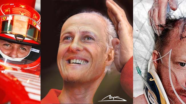 Michael Schumacher Foto acidente