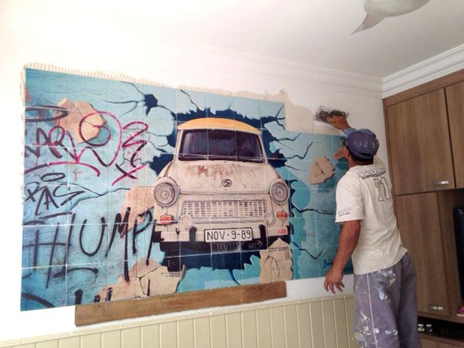 Foto Quadro Moisaico Azulejo Decoracao Pavan Fotografia
